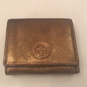 Tori Burch Bronze  Wallet. GENUINE LEATHER